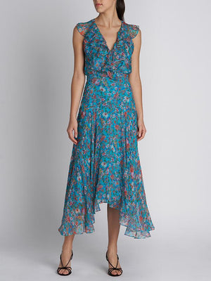 RITA SHORT TURQUOISE ORNAMENTAL DRESS