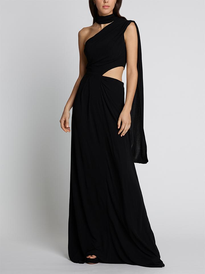 Load image into Gallery viewer, Honey Long Black Maxi Dress