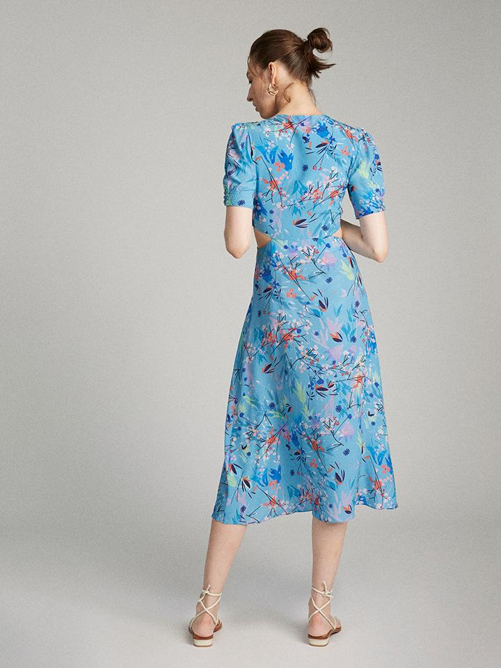 Load image into Gallery viewer, Lea Cutout Dress in Bluebell wood