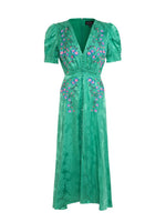 Lea Dress in Kelly Green