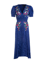 Lea Dress in Royal Indigo