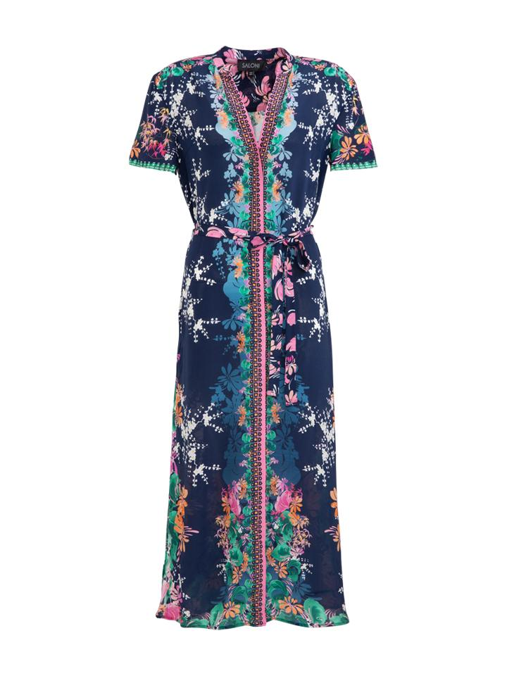 Vicki Dress in Lily Lake print