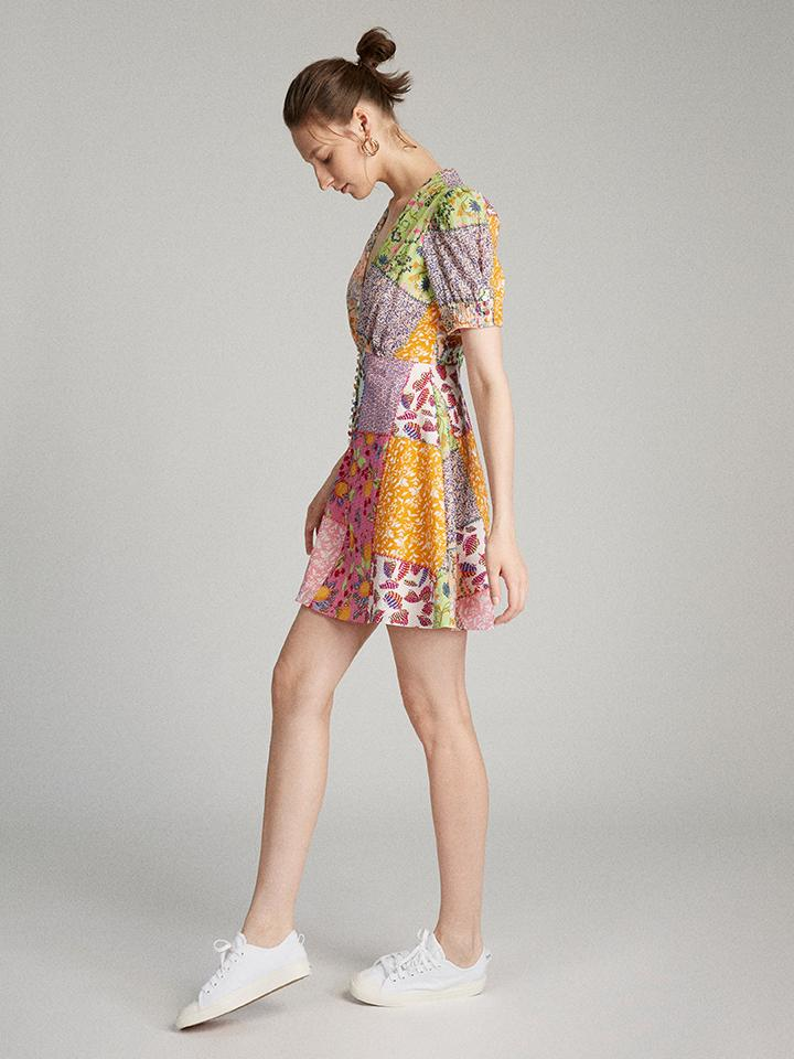 Load image into Gallery viewer, Lea Mini Dress in Patchwork