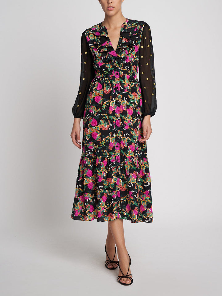 Load image into Gallery viewer, Ginny Short Hydrangea Dress