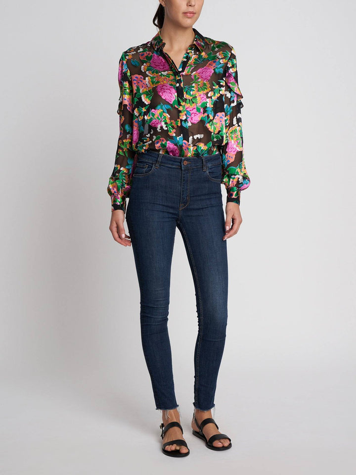 Load image into Gallery viewer, Myra B Hydrangea Shirt