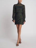 Rina Black Iridescent Dress