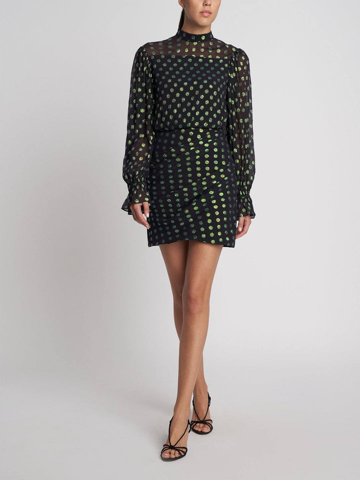 Load image into Gallery viewer, Rina Black Iridescent Dress