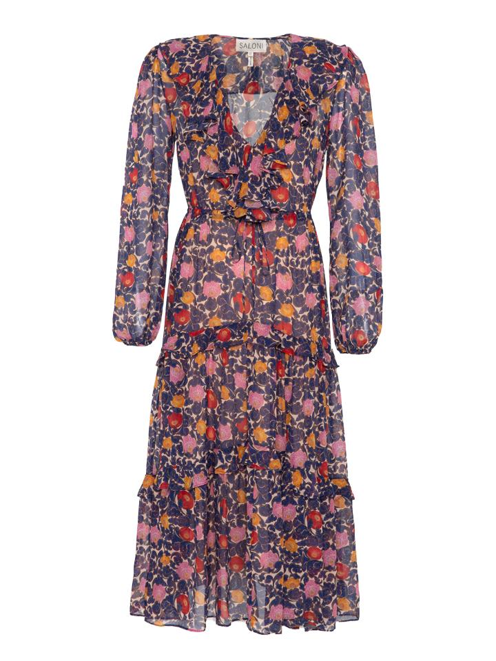 Load image into Gallery viewer, Yara Dress in Lotus Lake print