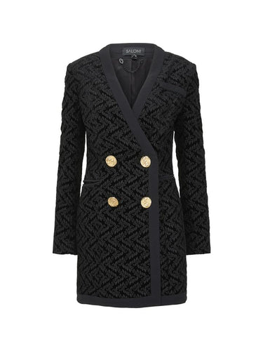 Bree Embroidered Velvet Blazer Mini Dress