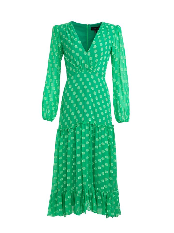 Load image into Gallery viewer, Devon Dress in Leaf Green