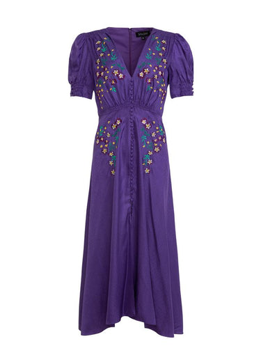 Lea Dress in Dark Purple