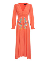 Eve Long Dress in Peach