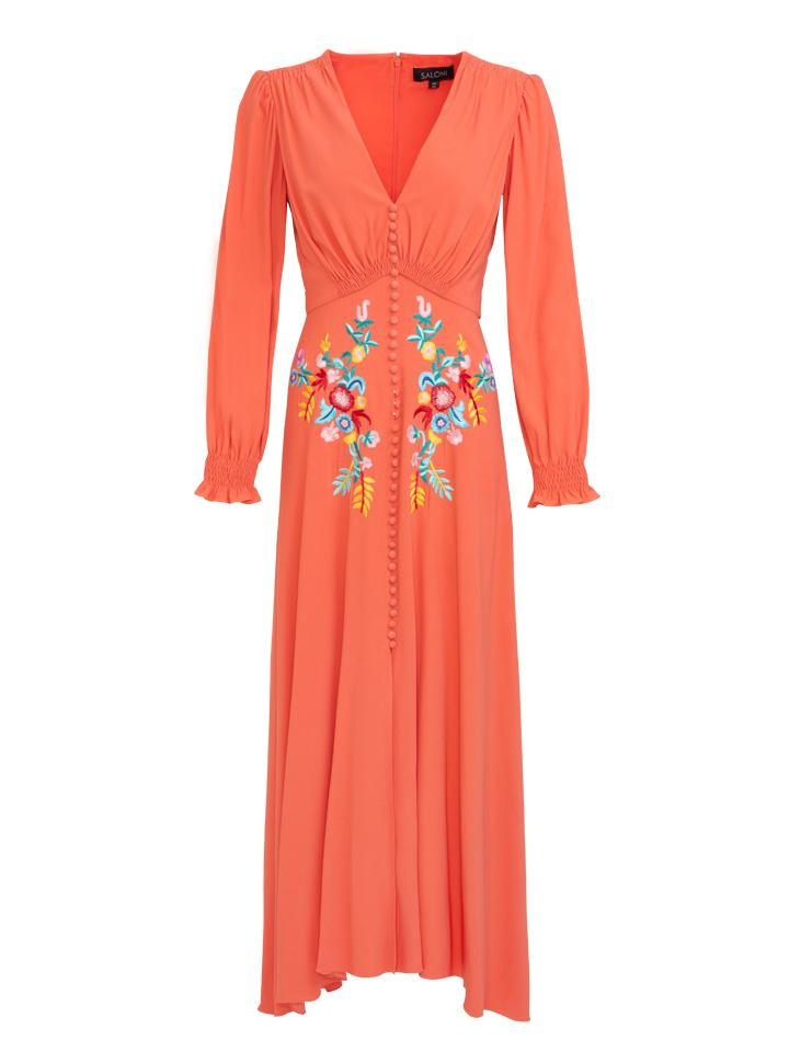 Load image into Gallery viewer, Eve Long Dress in Peach