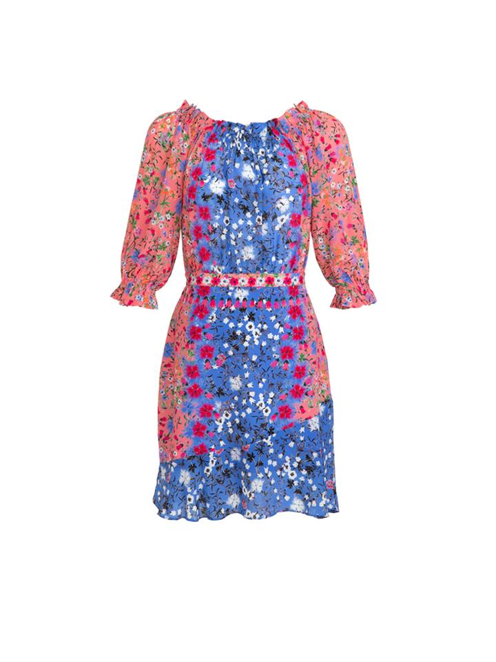 Load image into Gallery viewer, Grace Dress in Foxglove Meadow print