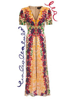 Lea Long Dress in Champagne Berries