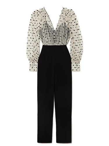 Bernadette Jumpsuit in Cream and Black