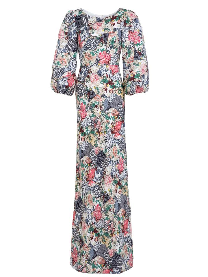 Load image into Gallery viewer, Lily-B Dress in Floral Ceramic print