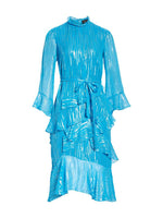 Marissa Turquoise Metallic Dress