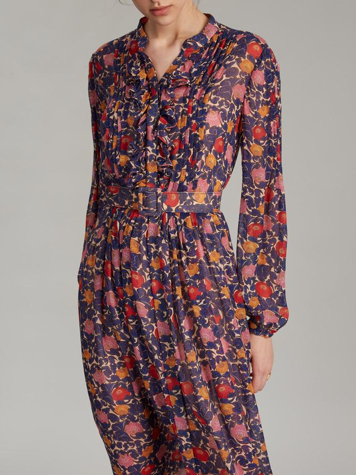Load image into Gallery viewer, Raquel Dress in Lotus Lake print