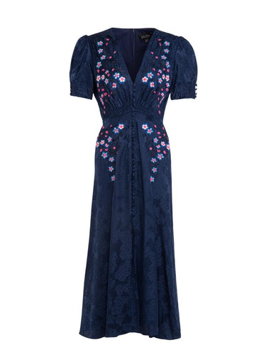 Lea Dress in Navy