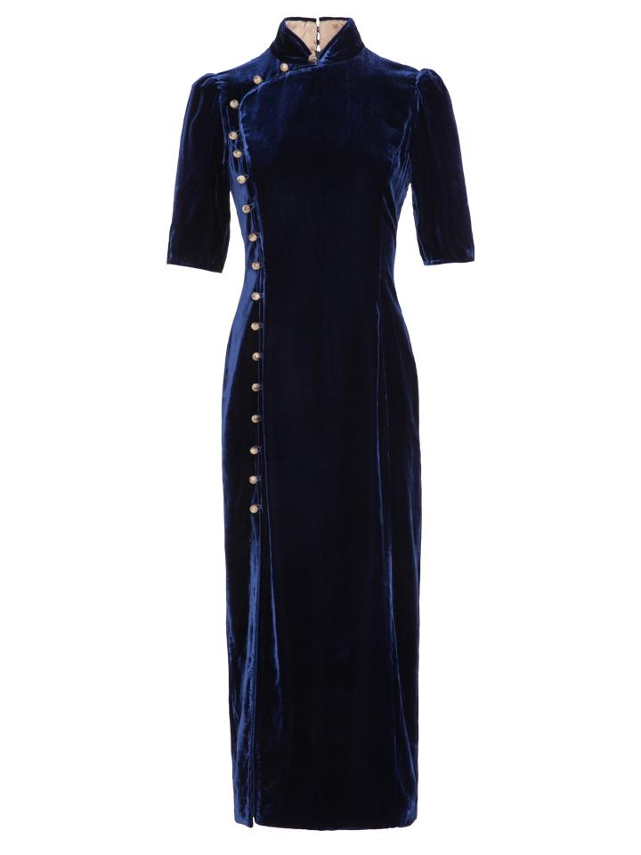 Load image into Gallery viewer, Taro Dress in Navy