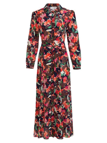 Vanessa-B Dress in Dusk Moonflower print