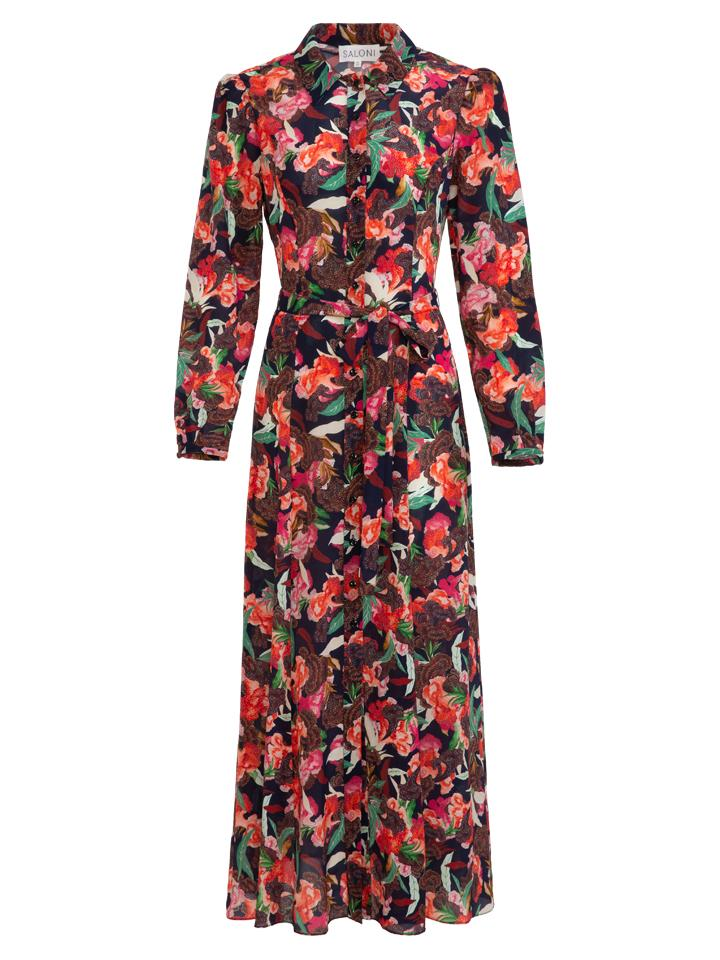 Load image into Gallery viewer, Vanessa-B Dress in Dusk Moonflower print