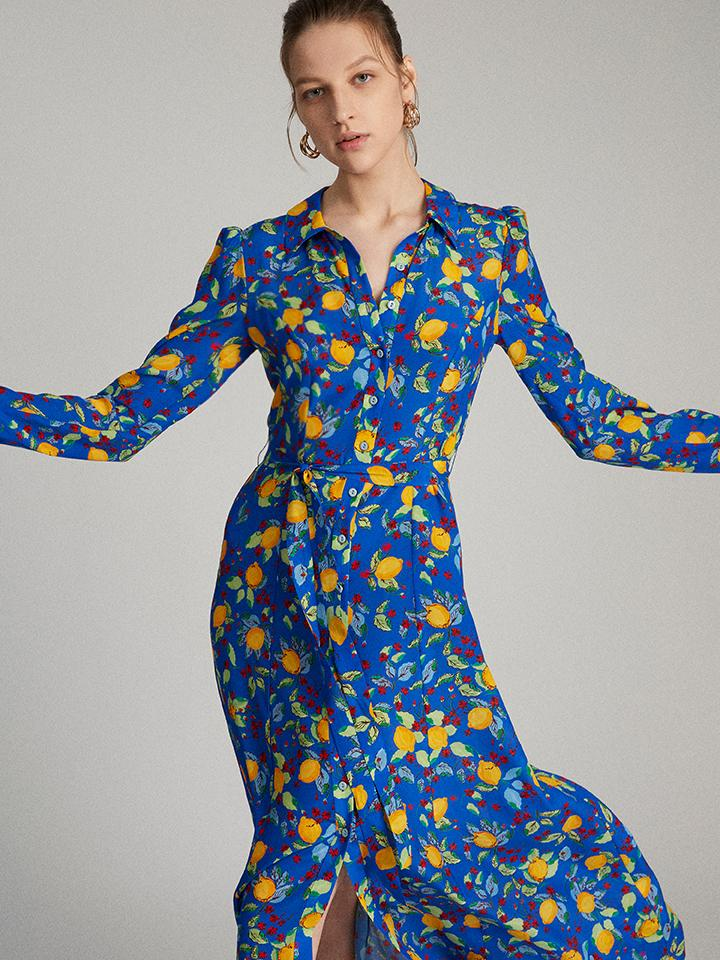 Load image into Gallery viewer, Vanessa Dress in Azure Limoncello
