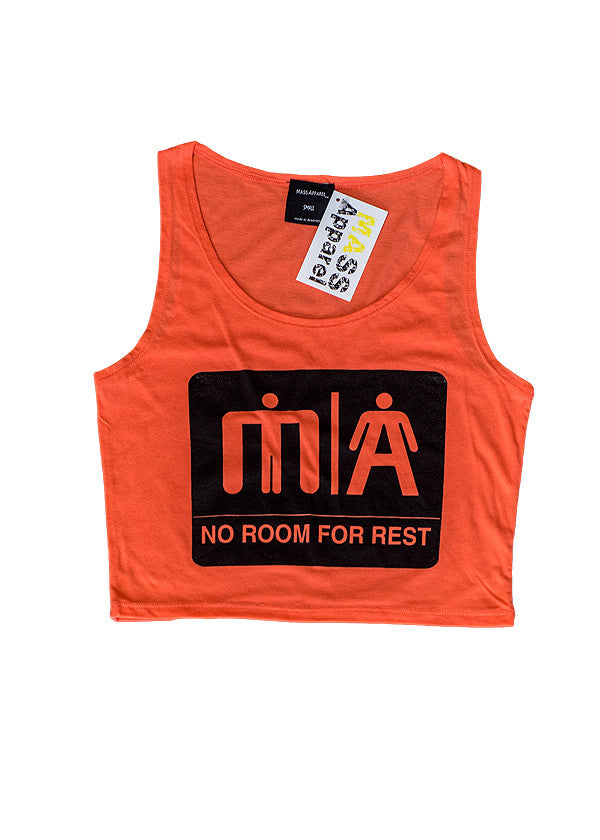 Mass Apparel Restroom Crop Top Coral
