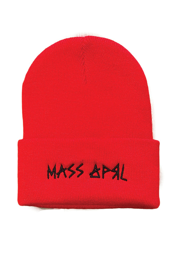 Mass Apparel Stick Beanie (Red)