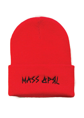 Mass Apparel Stick Beanie (Red),Mass Apparel - Mass Apparel