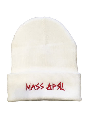 Mass Apparel Stick Beanie (White),Mass Apparel - Mass Apparel