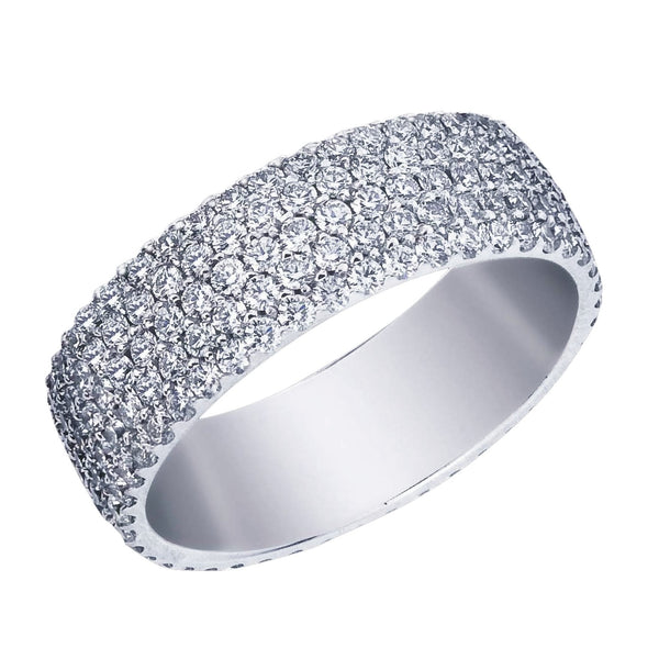 Five Row Pave Eternity Band