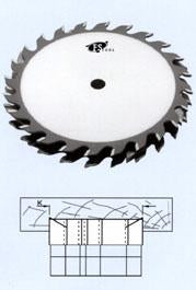"FS Tool 53DL08-RH<br>8"" x 5/8"", Standard Dado Sets Ouside Saw Blades, 24 Teeth"
