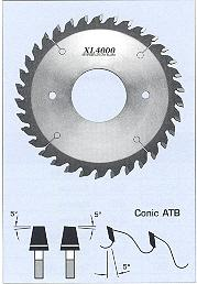 FS Tool 52720006-65<br>200mm x 65mm-2ph, XL4000 Conic Scoring Saw Blades, 34 Teeth