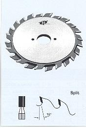 "FS Tool 52810001-1<br>100mm x 1"", Split Scoring Saw Blades, Flat Top, 2x12 Teeth"