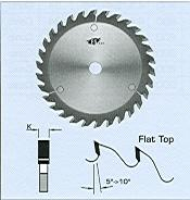 "FS Tool 531184<br>7"" x 5/8"", Flat Top Scoring Saw Blades, Flat Top, 40 Teeth"