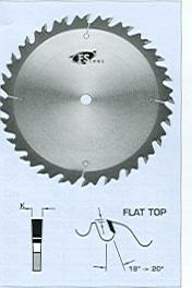 "FS Tool L02400<br>400mm x 1"", Rip Saw Blades with Chip Limiters, Flat Top, 36 Teeth"