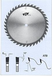 "FS Tool L03225<br>9"" x 5/8"", Cross Cut Saw Blades, ATB, 40 Teeth"