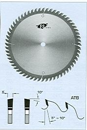 "FS Tool L04250<br>10"" x 5/8"", Standard Cross Cut Saw Blades, ATB, 60 Teeth"