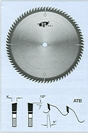 "FS Tool L06250<br>10"" x 5/8"", Fine Cross Cut Saw Blades, ATB, 80 Teeth"