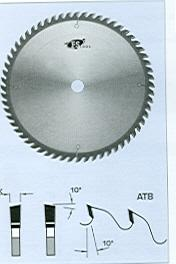 "FS Tool L09300<br>12"" x 1"", Cross Cut Saw Blades, ATB, 60 Teeth"