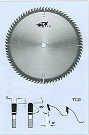 "FS Tool L10254<br>10"" x 5/8"", Fine Cross Cut Saw Blades, TCG, 80 Teeth"