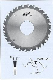 FS Tool L12350<br>350mm x 70mm, Gang Rip Saw Blades with Chip Limiters, Flat Top, 24 Teeth