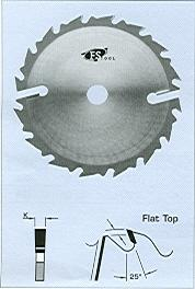 "FS Tool L13352<br>14"" x 4"", Gang Rip Saw Blades with 2 Rakers, Flat Top, 16+2 Teeth"