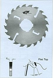 "FS Tool L14350<br>14"" x 2-1/2"", Gang Rip Saw Blades with 2+2 Rakers, Flat Top, 24+2+2 Teeth"