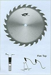 "FS Tool L18400<br>16"" x 1"", Heavy Duty Rip Saw Blades, Flat Top, 24 Teeth"