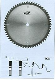 "FS Tool L1A200<br>8"" x 5/8"", Saw Blades for Non-Ferrous Metals, TCG, 48 Teeth"