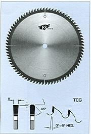 "FS Tool L1B380<br>15"" x 1"", Saw Blades for Non-Ferrous Metals, TCG, 100 Teeth"
