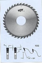 "FS Tool L22306<br>12"" x 1"", Glue Line Rip Saw Blades TCG, TCG, 36 Teeth"